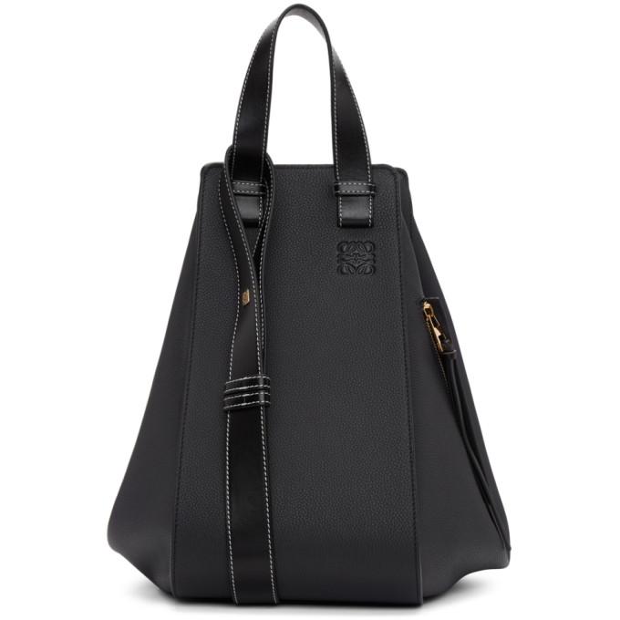 Hammock Medium Grained Leather Satchel Bag in Black
