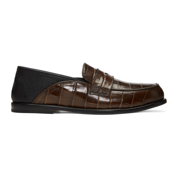 Loewe Tan Leather Sneakers