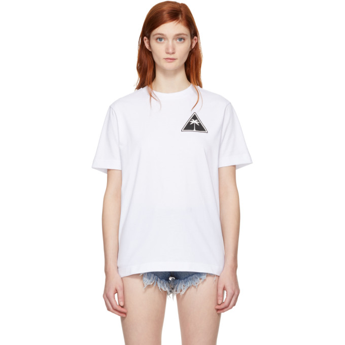 Oversized Printed Cotton-Jersey T-Shirt in White