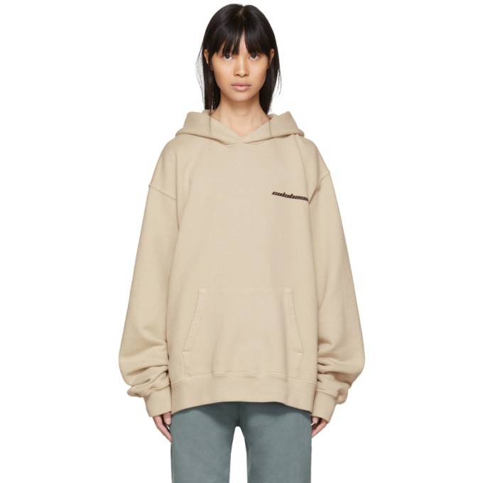 Yeezy Beige Calabasas French Terry Hoodie in Mist