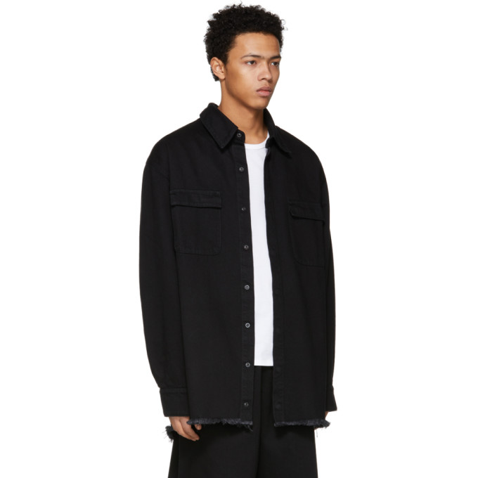 9fcdad5e896 Marques  Almeida Marques Almeida Ssense Exclusive Black Oversized Denim  Shirt