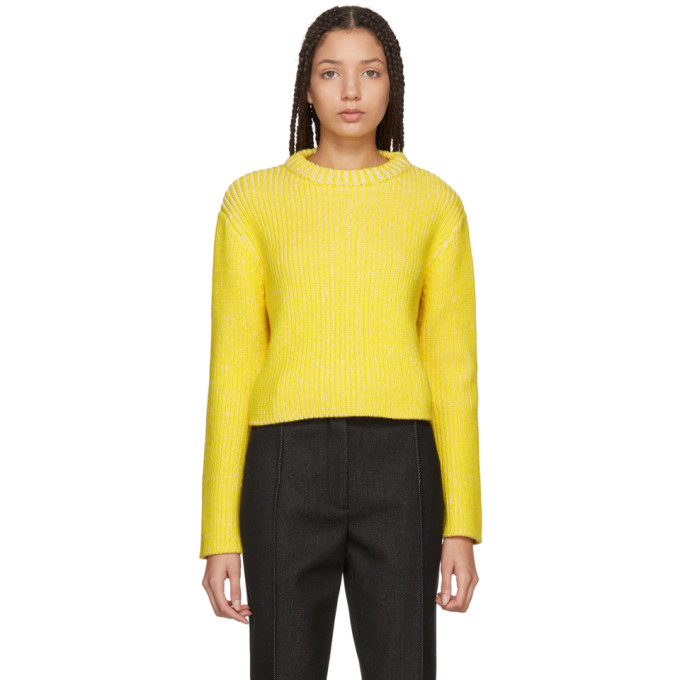 Protagonist PROTAGONIST YELLOW AND WHITE MELANGE SWEATER
