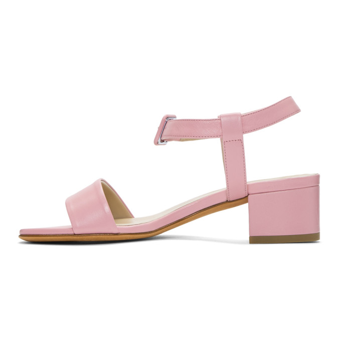 Maryam Nassir Zadeh Pink Colorblocked Buckle Sandals