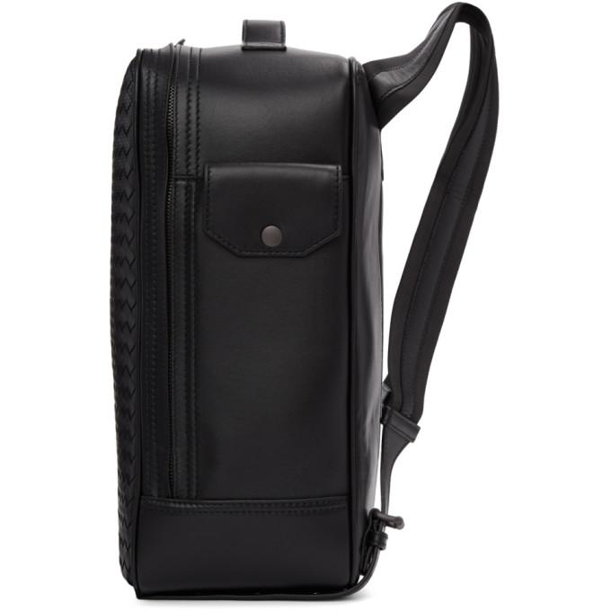 BOTTEGA VENETA Leathers Black Intrecciato Galaxy Backpack
