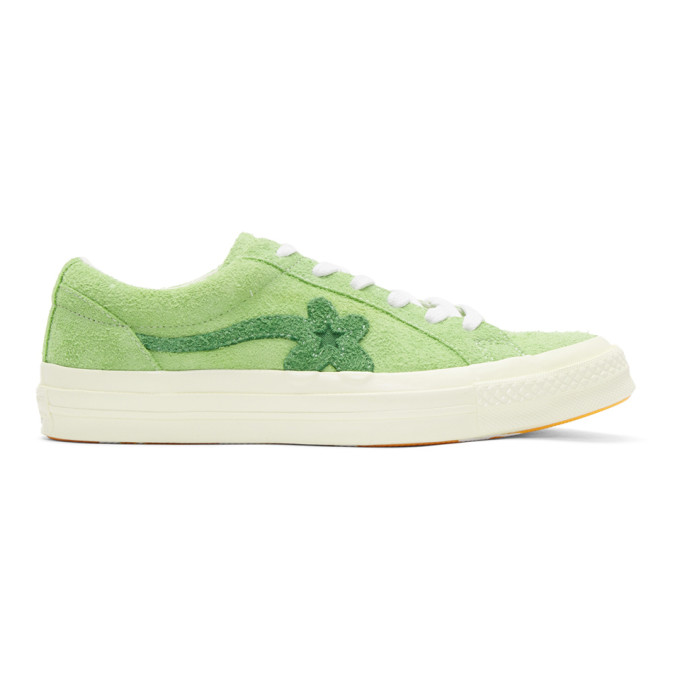 Converse Green Golf Le Fleur Edition One Star Sneakers  87fa6aa49b2