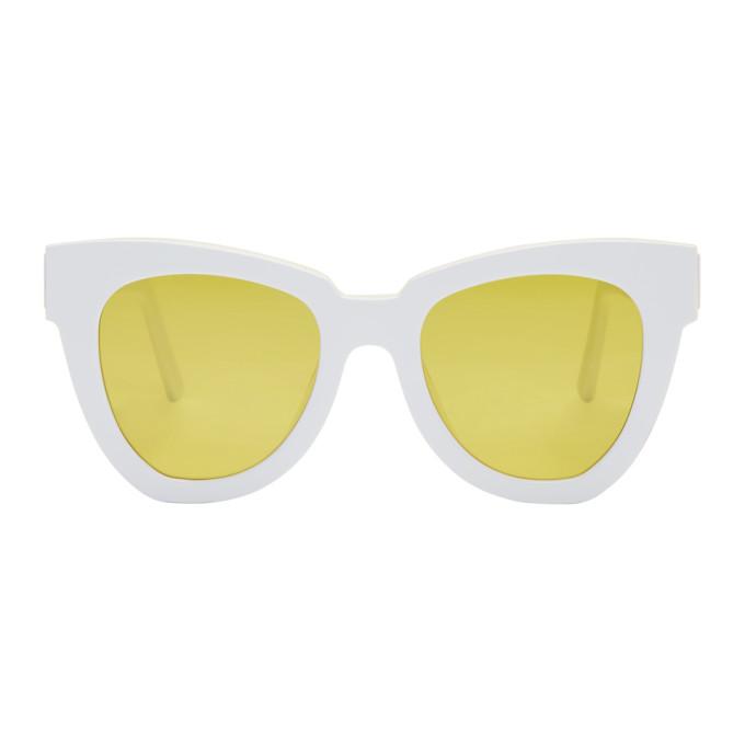 GENTLE MONSTER Gentle Monster Laser Sunglasses In White