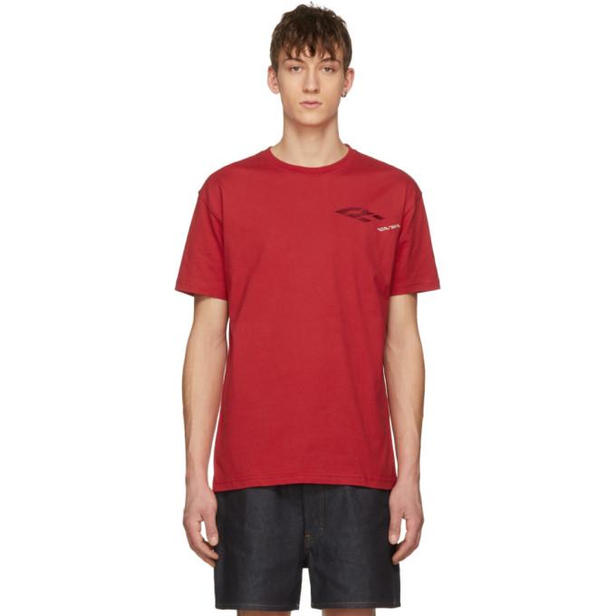 RIBEYRON Ribeyron Red Perspective Logo T-Shirt