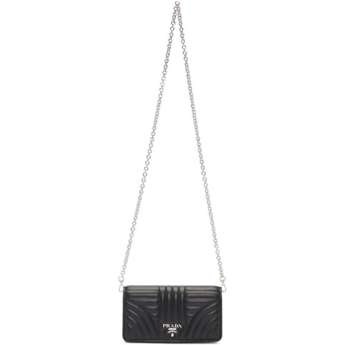 Prada Black Quilted Wallet Chain Bag Modesens