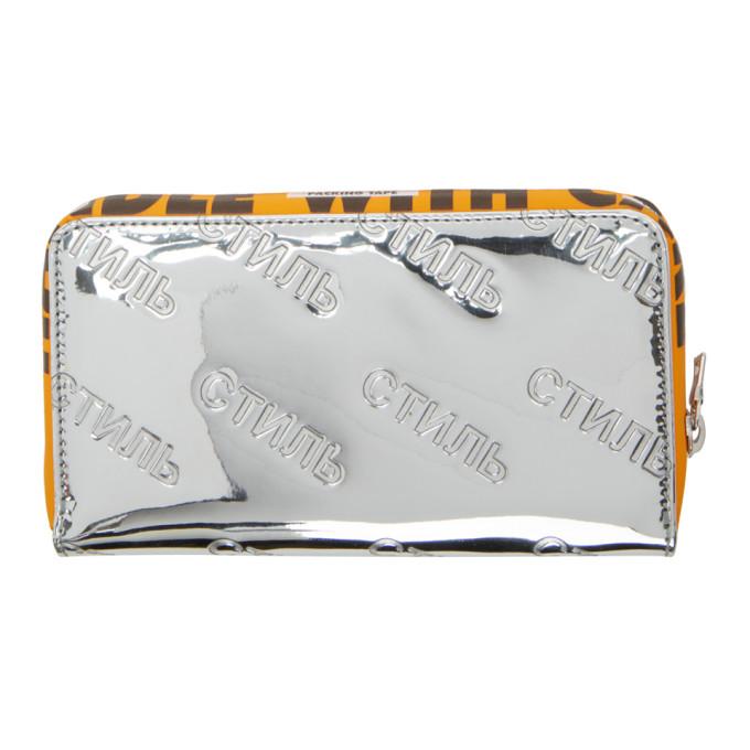 embossed logo wallet - Metallic HPC Trading Co.