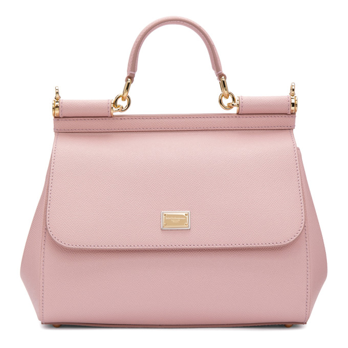 DOLCE AND GABBANA PINK MEDIUM MISS SICILY BAG