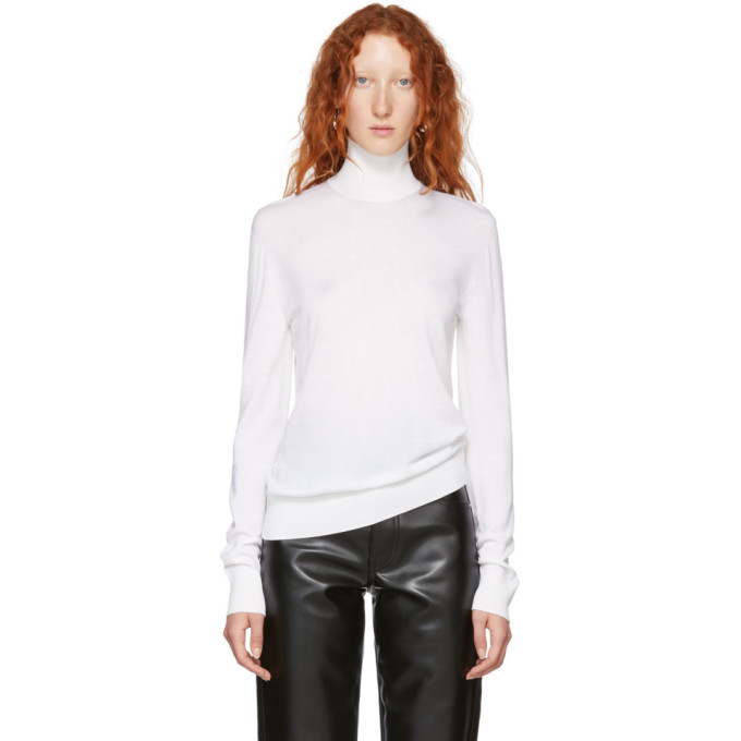 KWAIDAN EDITIONS WHITE MERINO TURTLENECK