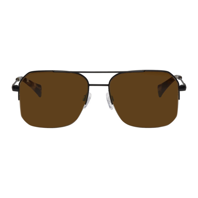 RAEN BLACK MUNROE AVIATOR SUNGLASSES