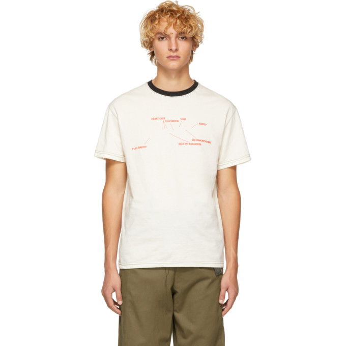 ST-HENRI SSENSE EXCLUSIVE OFF-WHITE AND BLACK ENGINE T-SHIRT