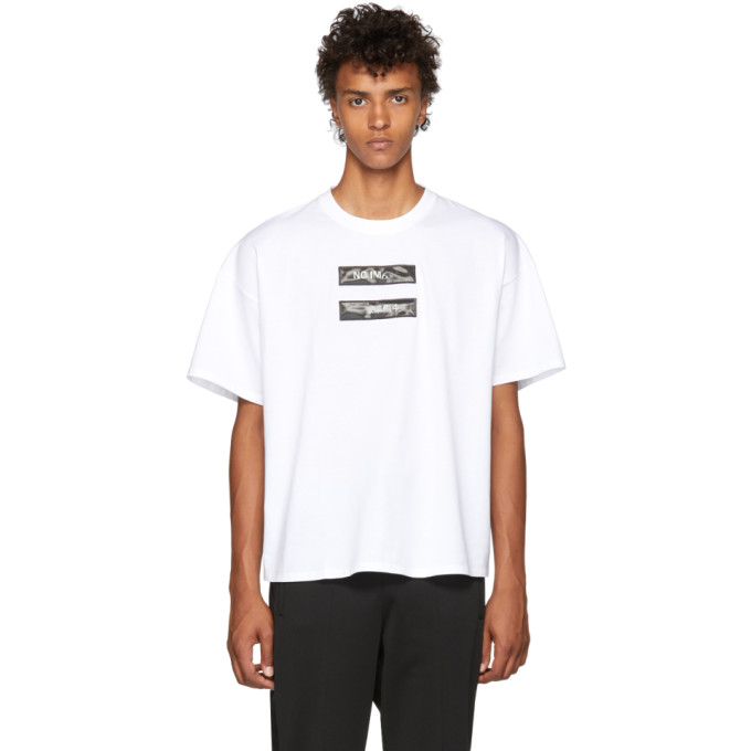 DOUBLET WHITE NO IMAGE LENTICULAR T-SHIRT