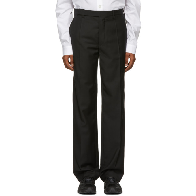 NAMACHEKO BLACK CLASSICAL FIT TROUSERS