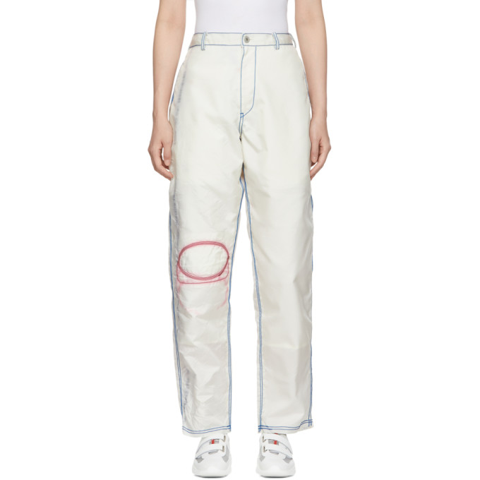 KANGHYUK Kanghyuk Ssense Exclusive Off-White Astronaut Trousers in Off White
