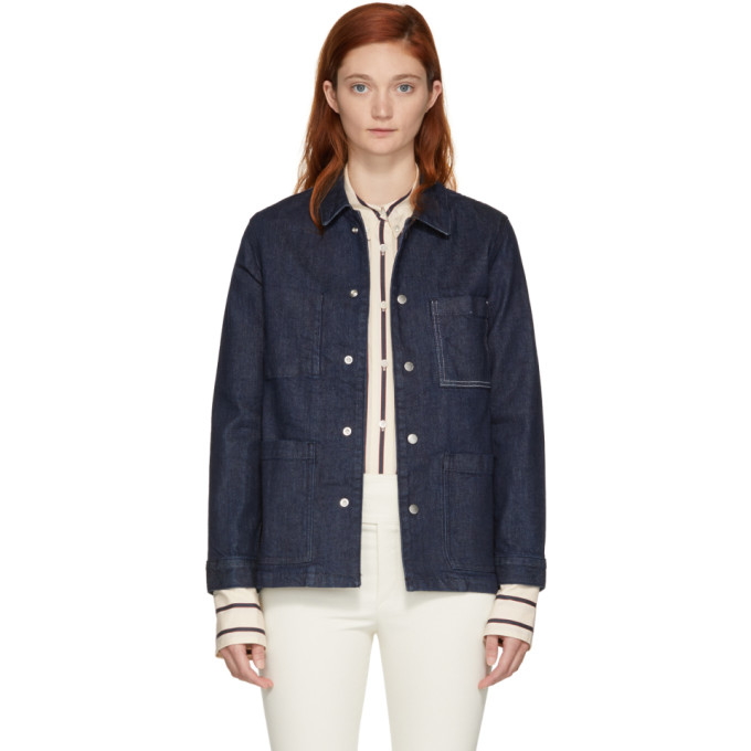 Rag And Bone Blue Denim Henri Jacket, 966 Rinsewa