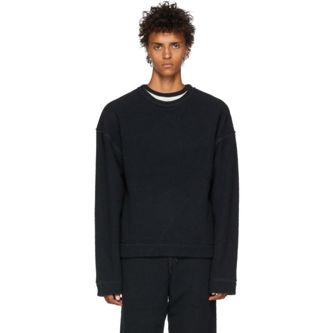 KOZABURO Kozaburo Black Raw Flat Seamer Sweatshirt in Charcoal