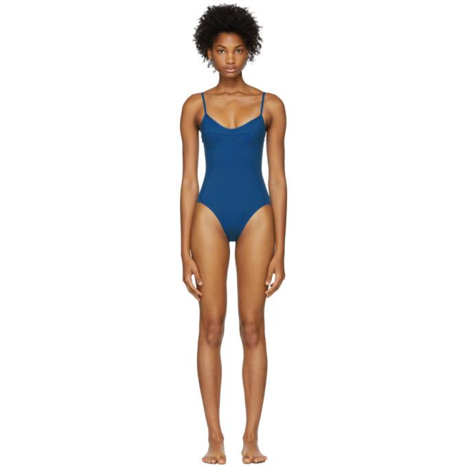 HER LINE Her Line Blue Sabine One-Piece Swimsuit in True Blue