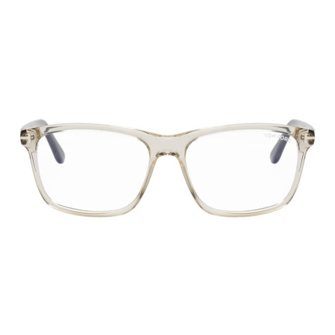 TOM FORD Transparent FT5479-B Rectangular Glasses
