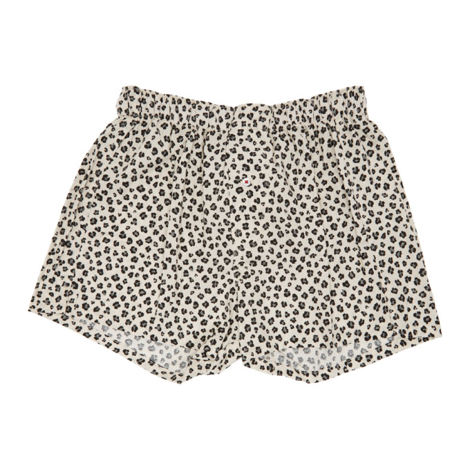DRUTHERS Druthers Off-White Leopard Patterned Boxers