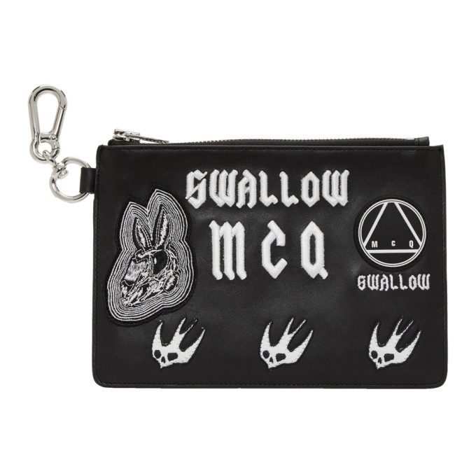 Mcq Alexander Mcqueen Applique Clutch Bag - Black, 1000 Black