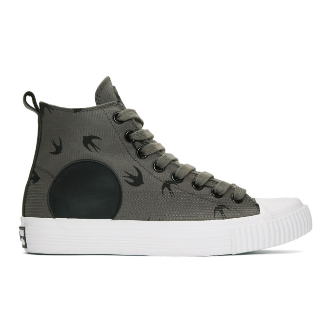 MCQ BY ALEXANDER MCQUEEN Grey Plimsoll High Sneakers