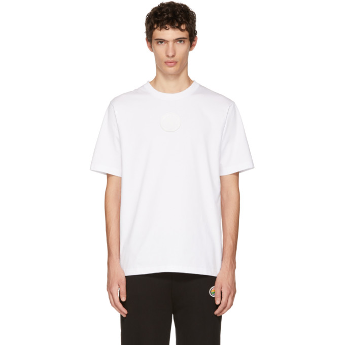 XANDER ZHOU WHITE JERSEY CHEST PATCH T-SHIRT