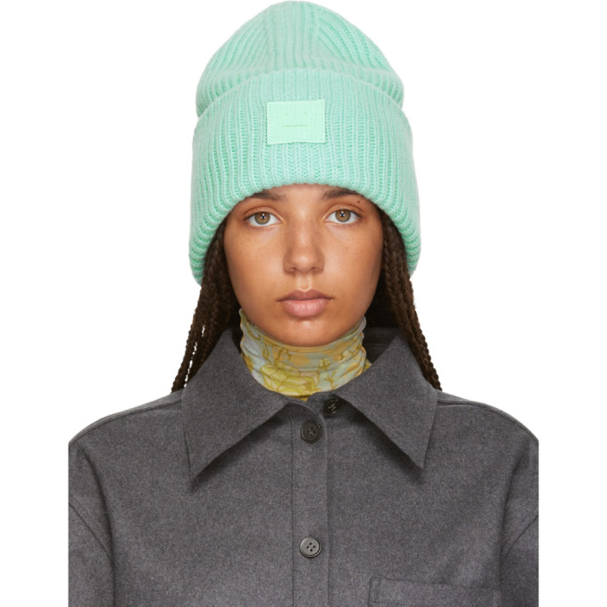 565fc68a07e Acne Studios Ribbed Beanie Hat Mint Green
