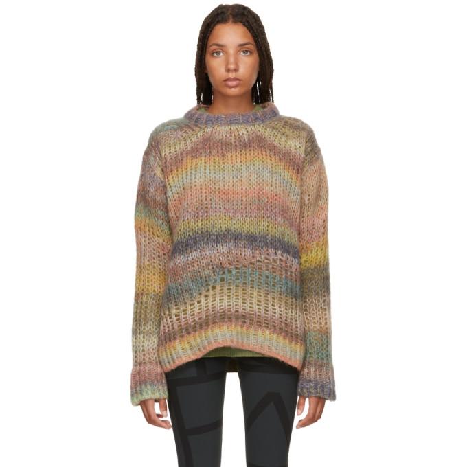 Multicolor Open Weave Mohair & Wool Sweatshirt from SSENSE