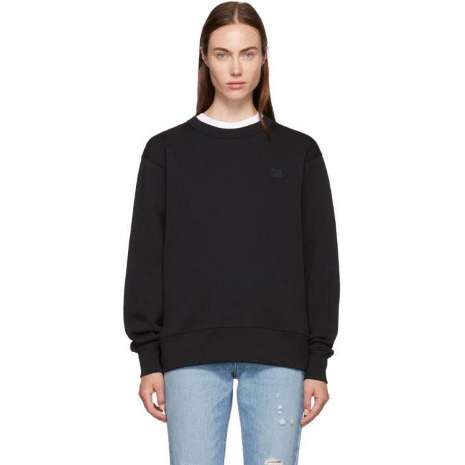 Black Fairview Face Sweatshirt from SSENSE