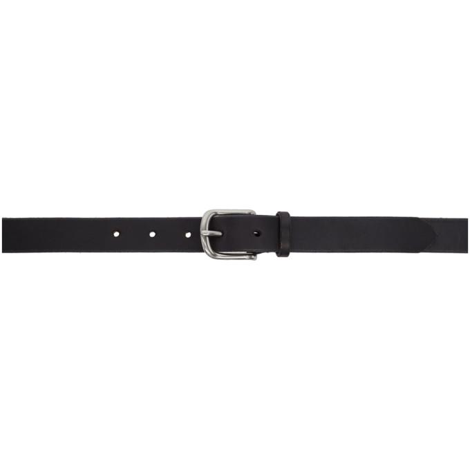 MAXIMUM HENRY Maximum Henry Black And Silver Slim Standard Belt in Blk.Sliver