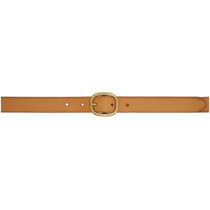 MAXIMUM HENRY BROWN AND GOLD OVAL SLIM BELT