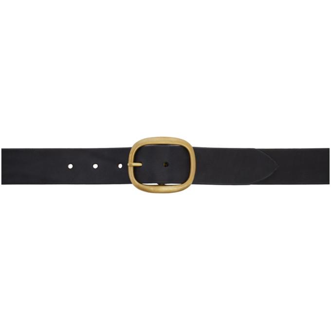 MAXIMUM HENRY Maximum Henry Black Oval Very Wide Brass Belt in Blk.Brss