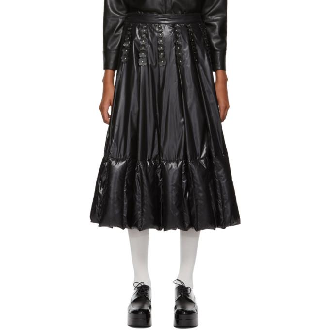 MONCLER GENIUS 6 Moncler Noir Kei Ninomiya Ruffles And Pleats Skirt in 999 Black