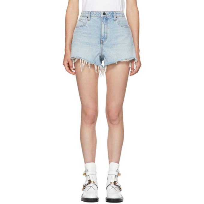 Blue Bite Shorts from SSENSE