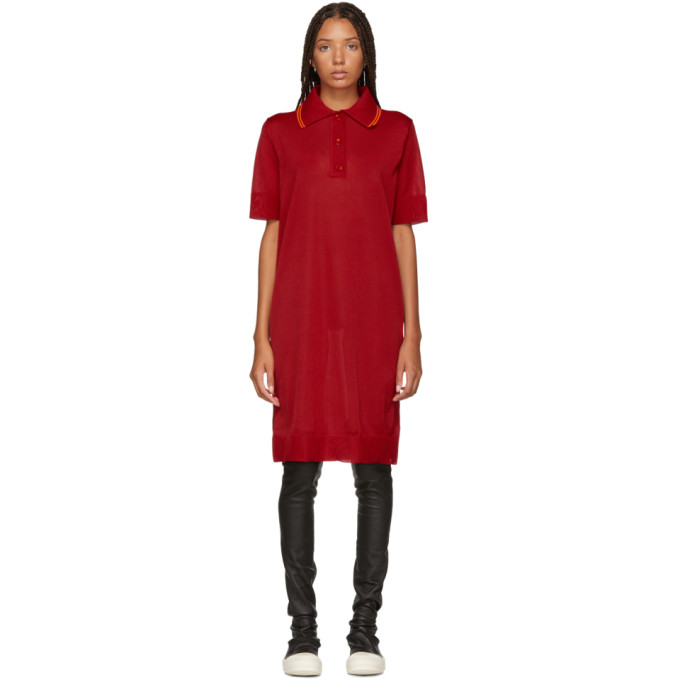 MM6 MAISON MARTIN MARGIELA RED POLO DRESS