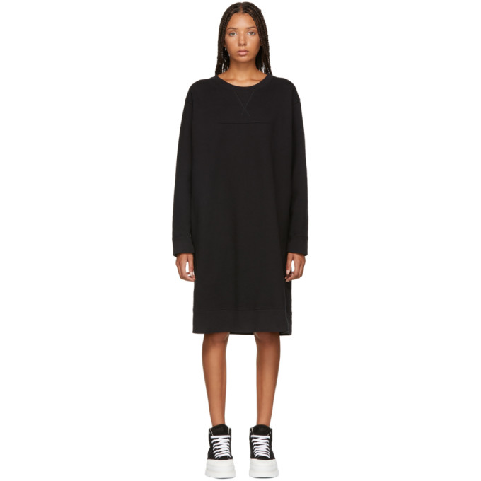 MM6 MAISON MARTIN MARGIELA BLACK JERSEY DRESS