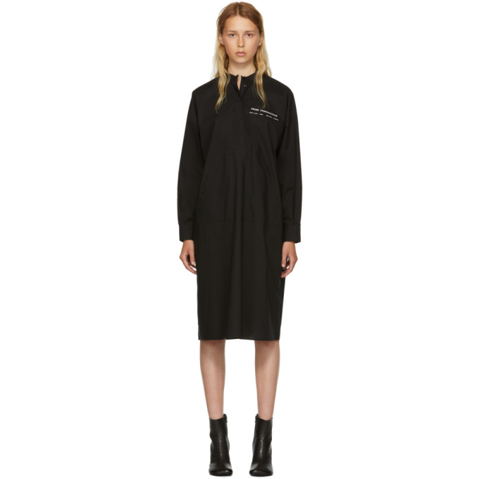 Cotton Poplin Lab Coat Dress - Black Size 40 Fr