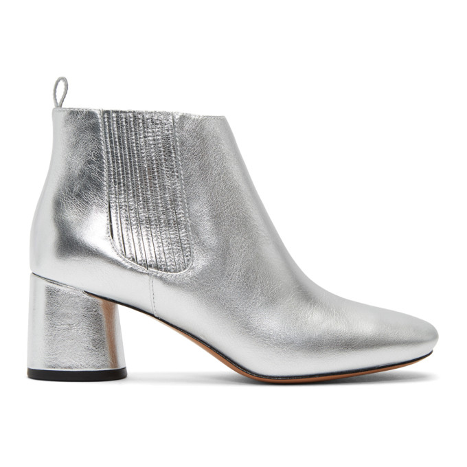 Marc Jacobs Rocket Chelsea Boots - Metallic, 040 Silver