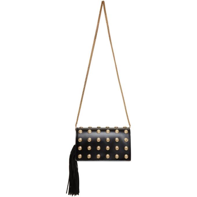 Balmain Black And Gold Coins Crossbody Bag, Noir 176