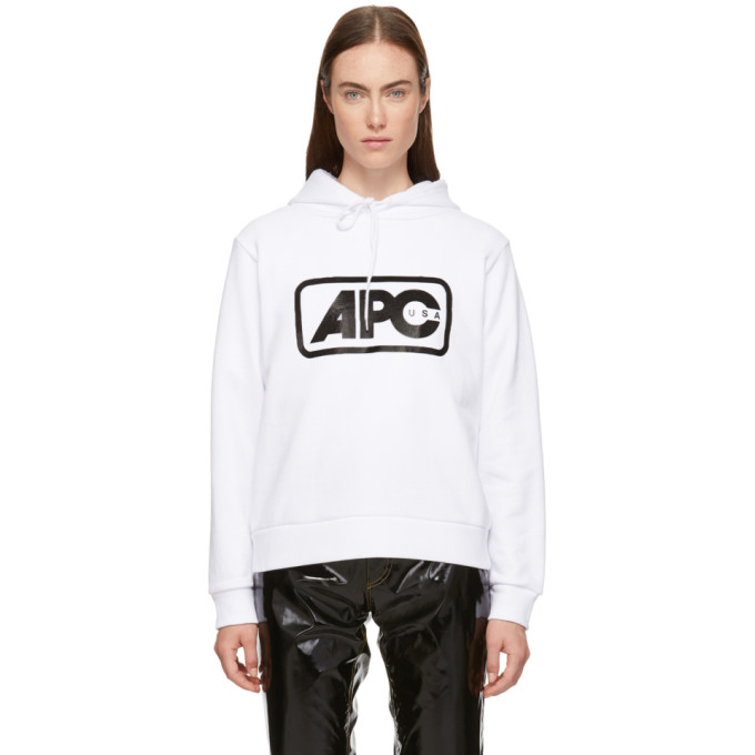 White U.S. Vince Hoodie by A.P.C.
