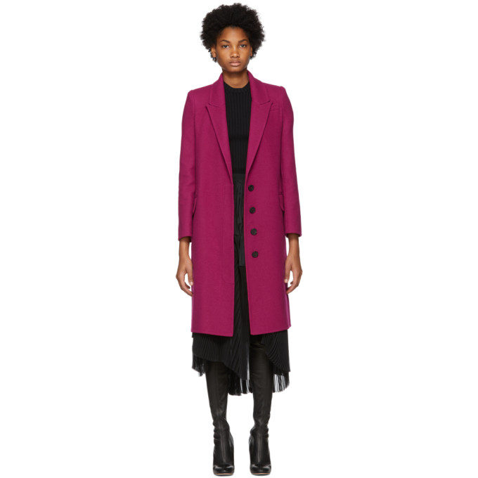 Pink Wool & Cashmere Coat from SSENSE