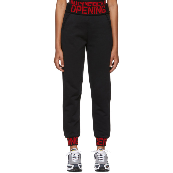 Intarsia-Trimmed Cotton-Jersey Track Pants in Black