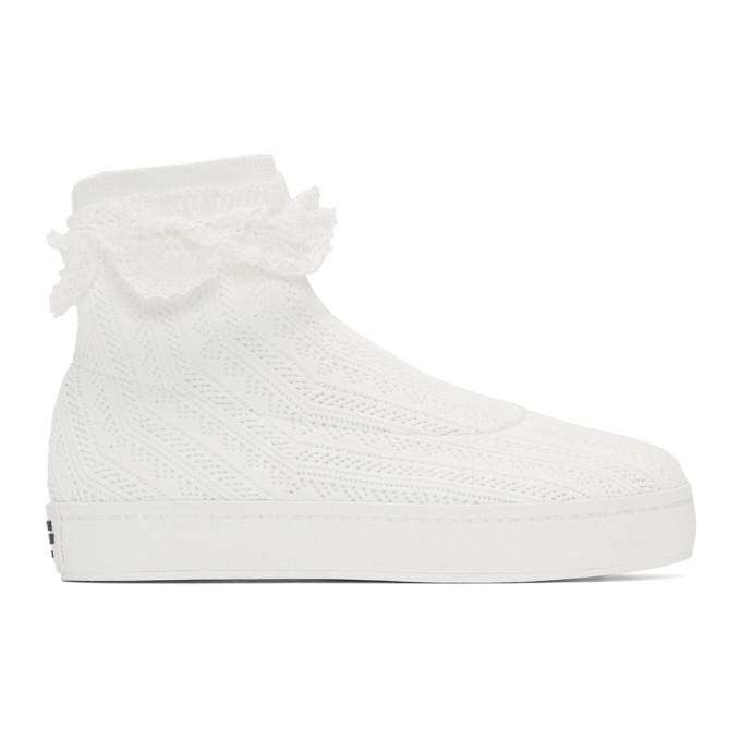 Bobby Sock Knit Sneaker in 1000 White