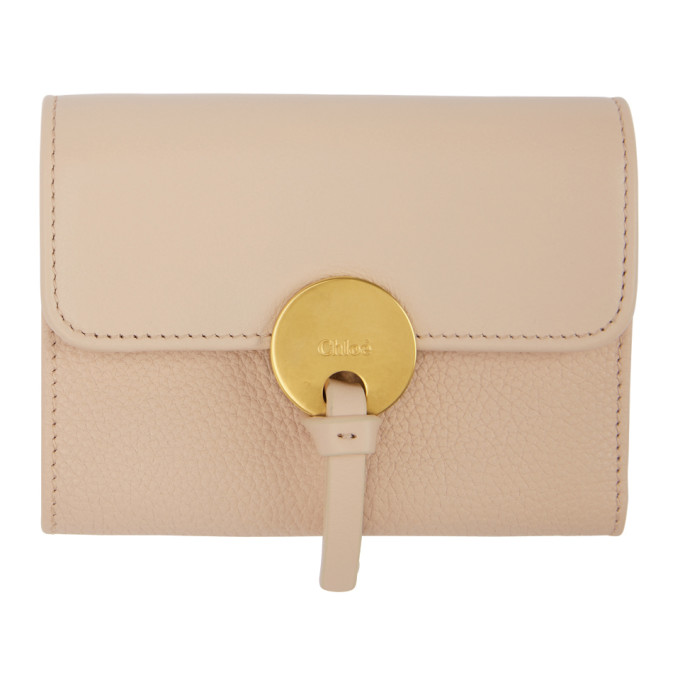 CHLOE PINK INDY COMPACT WALLET