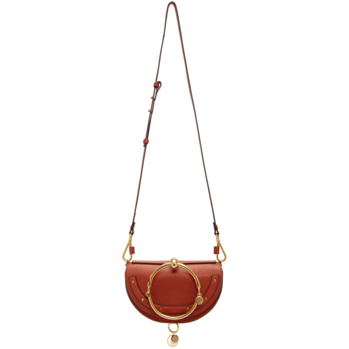 Nile Bracelet Mini Leather Shoulder Bag, 647 Earthyr