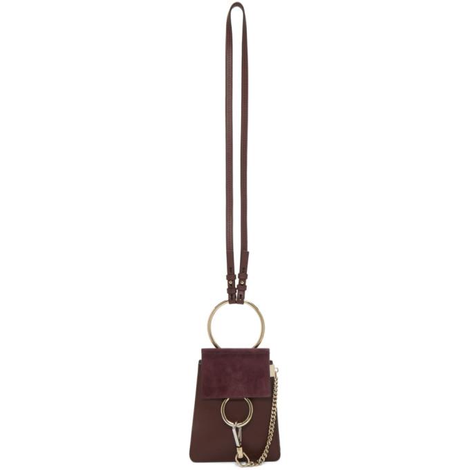 Burgundy Faye Bracelet Bag by ChloÉ