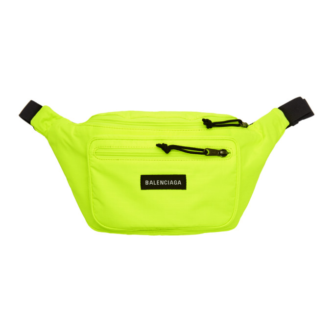 Balenciaga Yellow Nylon Explorer Belt Pouch