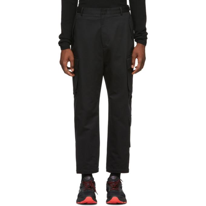 Black Canvas Cargo Pants by Juun.J